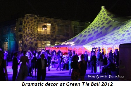 9 - Dramatic decor at Green Tie Ball 2012
