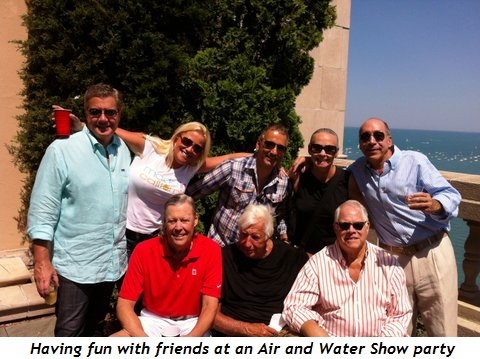 1 - Having fun with friends at an Air and Water Show Party