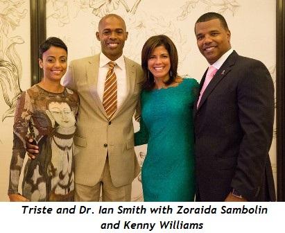 3 - Triste and Dr. Ian Smith with Zoraida Sambolin and Kenny Williams