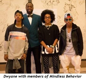 4 - Dwyane with members of Mindless Behavior