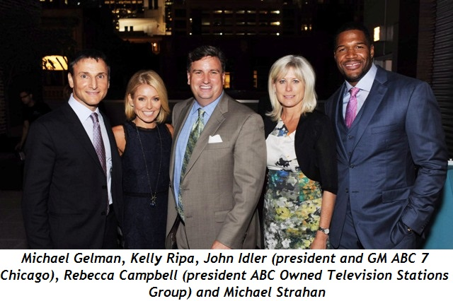 Michael Gelman, Kelly Ripa, John Idler-President and GM ABC 7 Chicago; Rebecca Campbell President ABC Owned Television Stations Group; and Michael Strahan