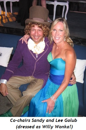 2 - Co-chairs Sandy and Lee Golub (dressed as Willy Wonka)