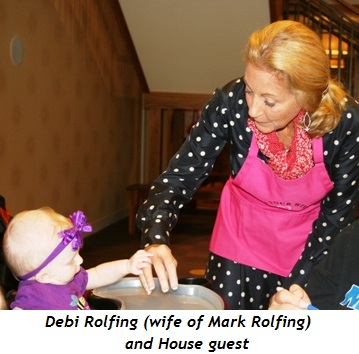 Debi Rolfing (wife of Mark Rolfing) and House guest