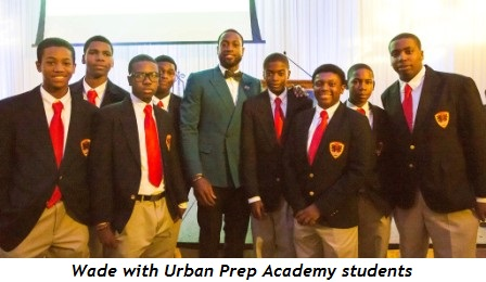 7 - Wade with Urban Prep Academy students