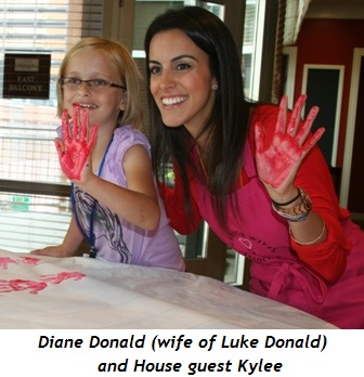 Diane Donald (wife of Luke Donald) and Kylee, House guest