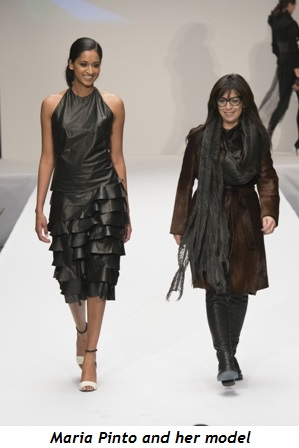 6 - Maria Pinto and her model