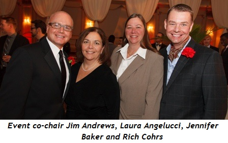 5 - Event co-chair Jim Andrews, Laura Angelucci, Jennifer Baker and Rich Cohrs