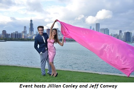 3 - Event hosts Jillian Conley and Jeff Conway