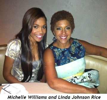 1 - Michelle Williams and Linda Johnson Rice