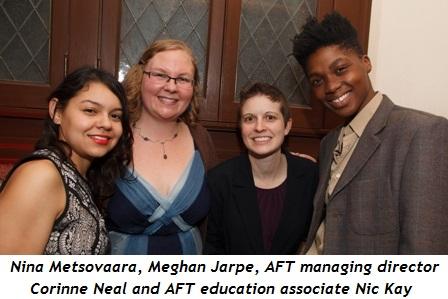 3 - Nina Metsovaara, Meghan Jarpe, AFT Managing Director Corinne Neal and AFT Education Associate Nic Kay