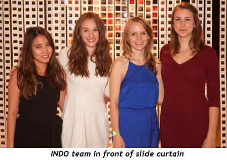 5 - INDO team in front of slide curtain