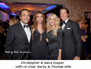 Christopher and Saira Cooper with co-chair Darby and Thomas Hills