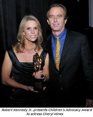 Robert Kennedy Jr. presents Children's Advocacy Award to actress Cheryl Hines