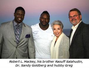 Robert L. Mackey his brother Raouff Salahudin  Dr. Sandy Goldberg and hubby Greg