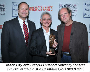 Inner-City Arts Pres_CEO Robert Smiland, honoree Charles Arnoldi and ICA co-founder_AD Bob Bates