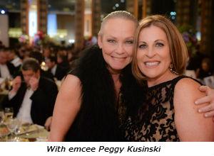 With emcee Peggy Kusinski