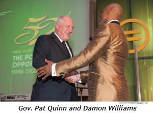 Gov Pat Quinn and Damon Williams