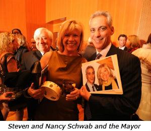 Steven and Nancy Schwab and the Mayor
