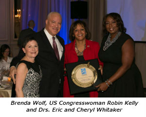 Brenda Wolf US Congresswoman Robin Kelly and Drs. Eric and Cheryl Whitaker