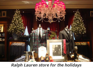 Ralph Lauren store for the holidays