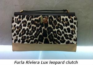 Furla Riviera Lux leopard clutch