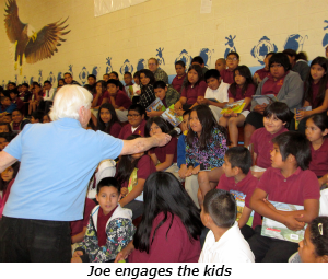 Joe engages the kids