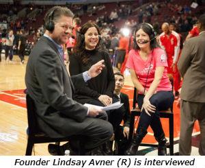 Founder Lindsay Avner is interviewed