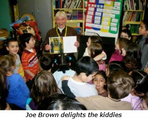 Joe Brown delights the kiddies