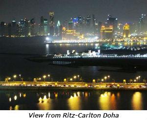 View from Ritz-Carlton Doha
