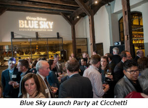 Blue Sky Launch Party at Cicchetti