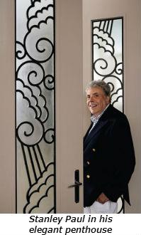 Stanley Paul in his elegant penthouse