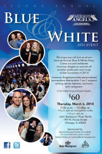 Blue & White Ball Invite