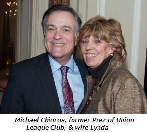 Michael Chioros former Prez of Union League Club  and wife Lynda