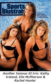 Another famous SI trio  Kathy Ireland Elle McPherson and Rachel Hunter