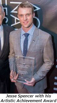 Jesse Spencer with his Artistic Achievement Award