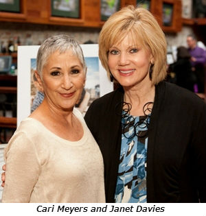 Cari Meyers (left) with Janet Davies