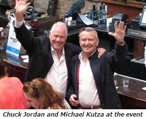 Chuck Jordan and Michael Kutza at the event