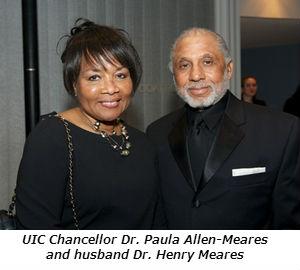 UIC Chancellor Dr aula Allen-Meares and husband Dr Henry Meares