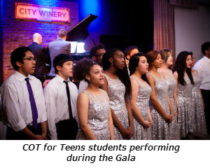 COT for Teens students performing during the Gala dinner - Photo Credit David Turner Photography