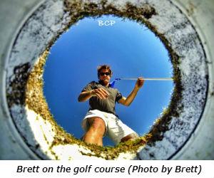 Brett on the golf course