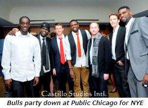 Bulls party down at Public Chicago for NYE