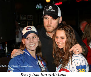 Kerry has fun with fans