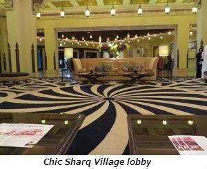 Chic Sharq Village lobby