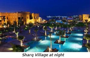 Sharq Village at night