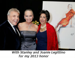 With Stanley and Joanie Legittino for my 2013 honor