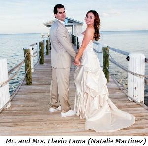 Mr and Mrs Flavio Fama Natalie Martinez