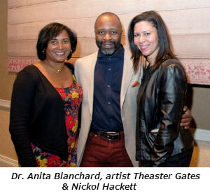 Dr Anita Blanchard artist Theaster Gates and Nickol Hackett