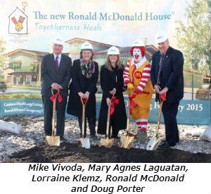 Mike Vivoda Mary Agnes Laguatan  Lorraine Klemz Ronald McDonald and Doug Porter
