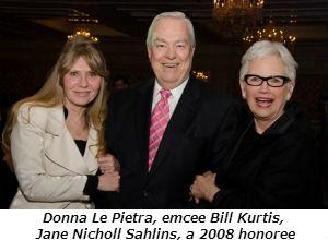 Donna Le Pietra emcee Bill Kurtis Jane Nicholl Sahlins a 2008 honoree