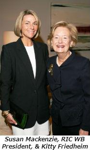 Susan Mackenzie RIC WB President and Kitty Friedheim
